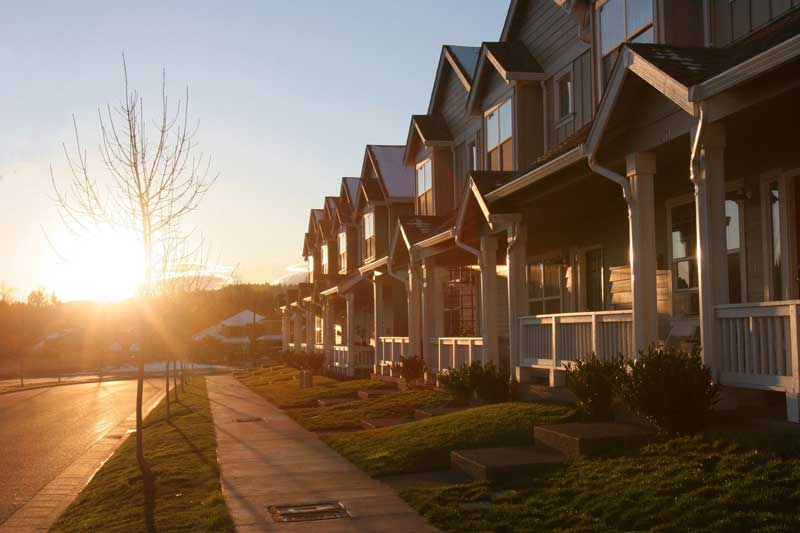 houses on a street - community association management